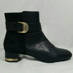 Circa Joan and David black leather and suede boots